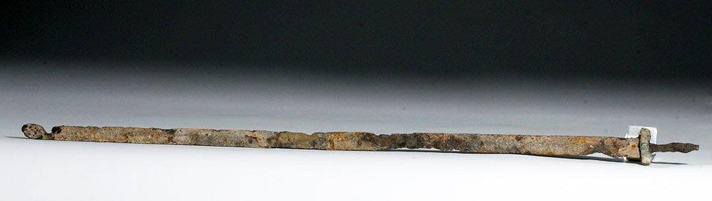 Chinese Long Iron Sword (Jian) with Bronze Guard - 2