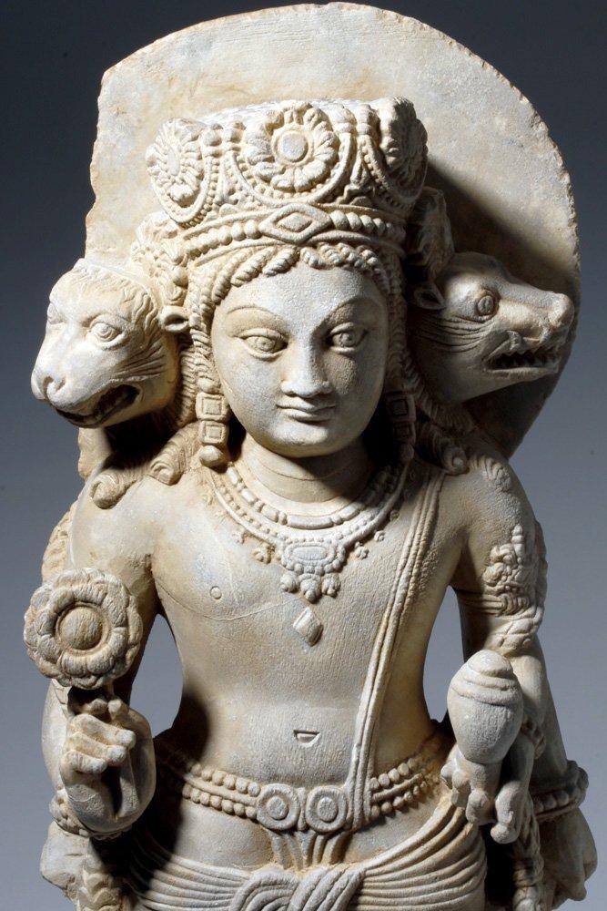 Important 4th C. Indian Marble Statue of Vishnu