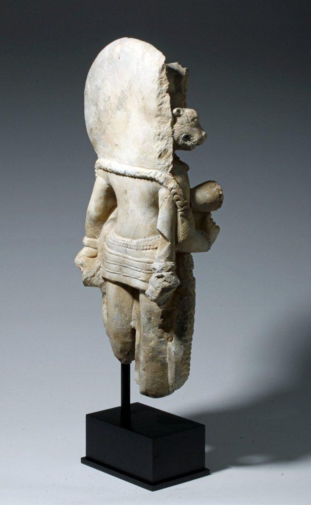 Important 4th C. Indian Marble Statue of Vishnu - 3