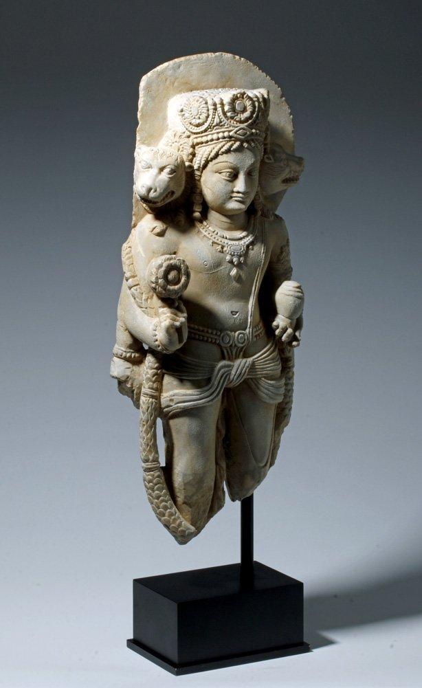 Important 4th C. Indian Marble Statue of Vishnu - 4
