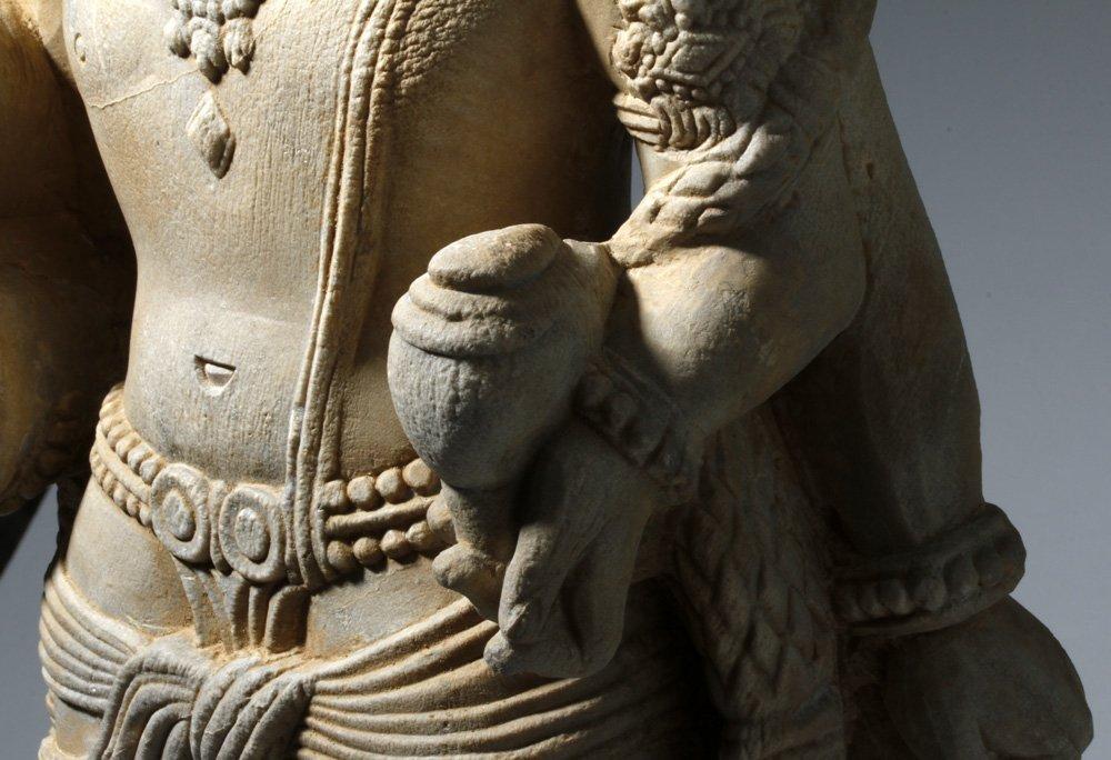 Important 4th C. Indian Marble Statue of Vishnu - 6