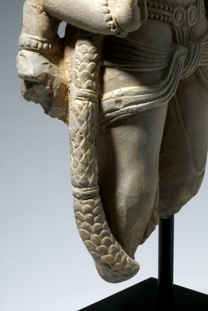 Important 4th C. Indian Marble Statue of Vishnu - 8