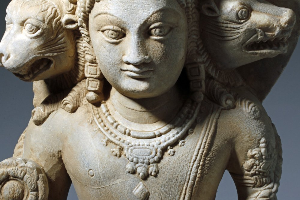 Important 4th C. Indian Marble Statue of Vishnu - 9