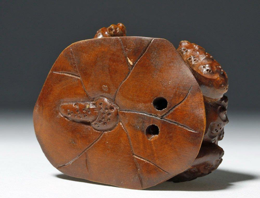 Japanese Meiji Period Boxwood Netsuke - Frog - 7