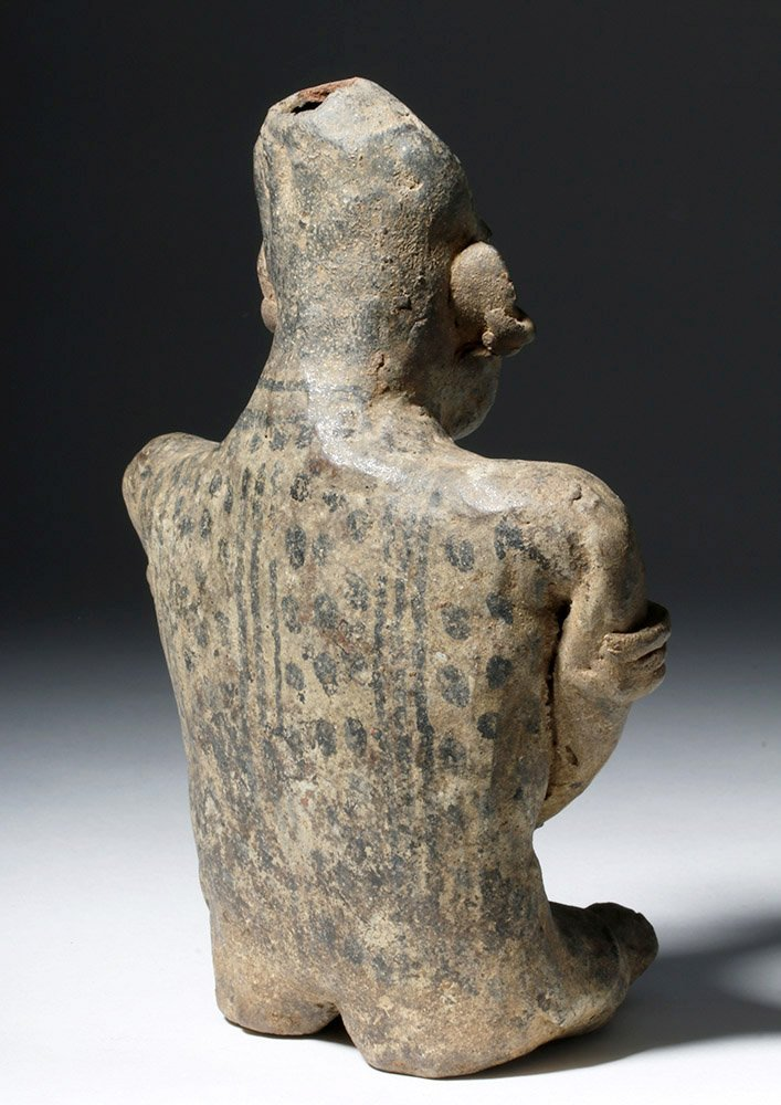 Adorable Nayarit Pottery Seated Mother & Child - 3