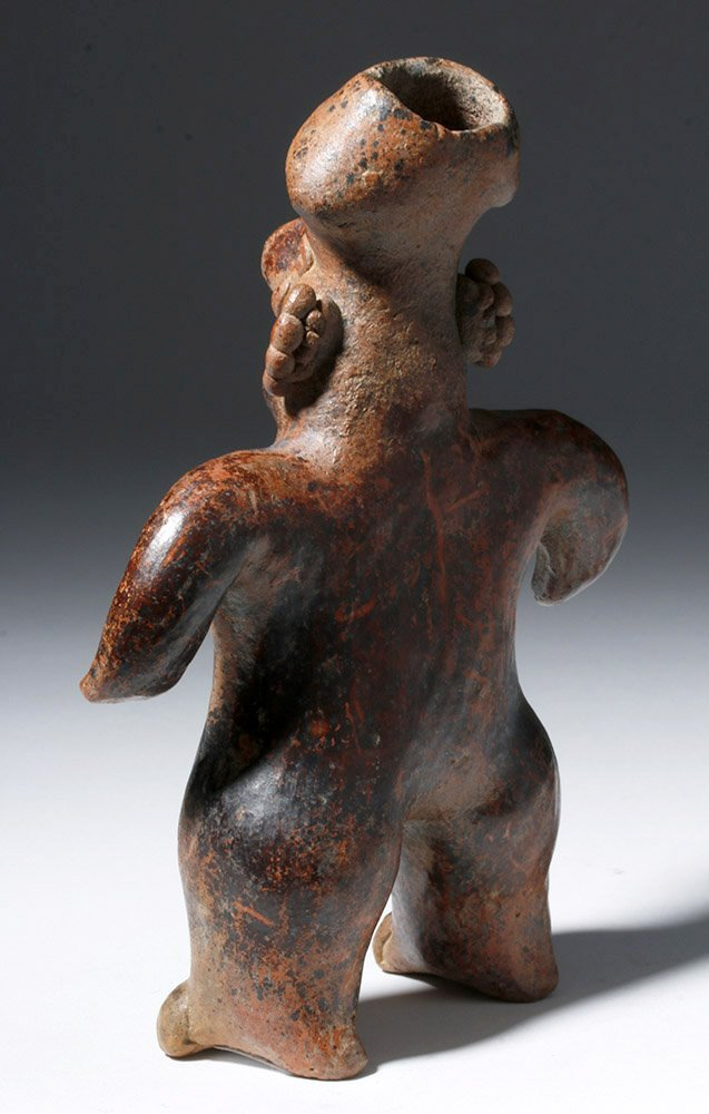 Nayarit Pottery Standing Female Figure - 2
