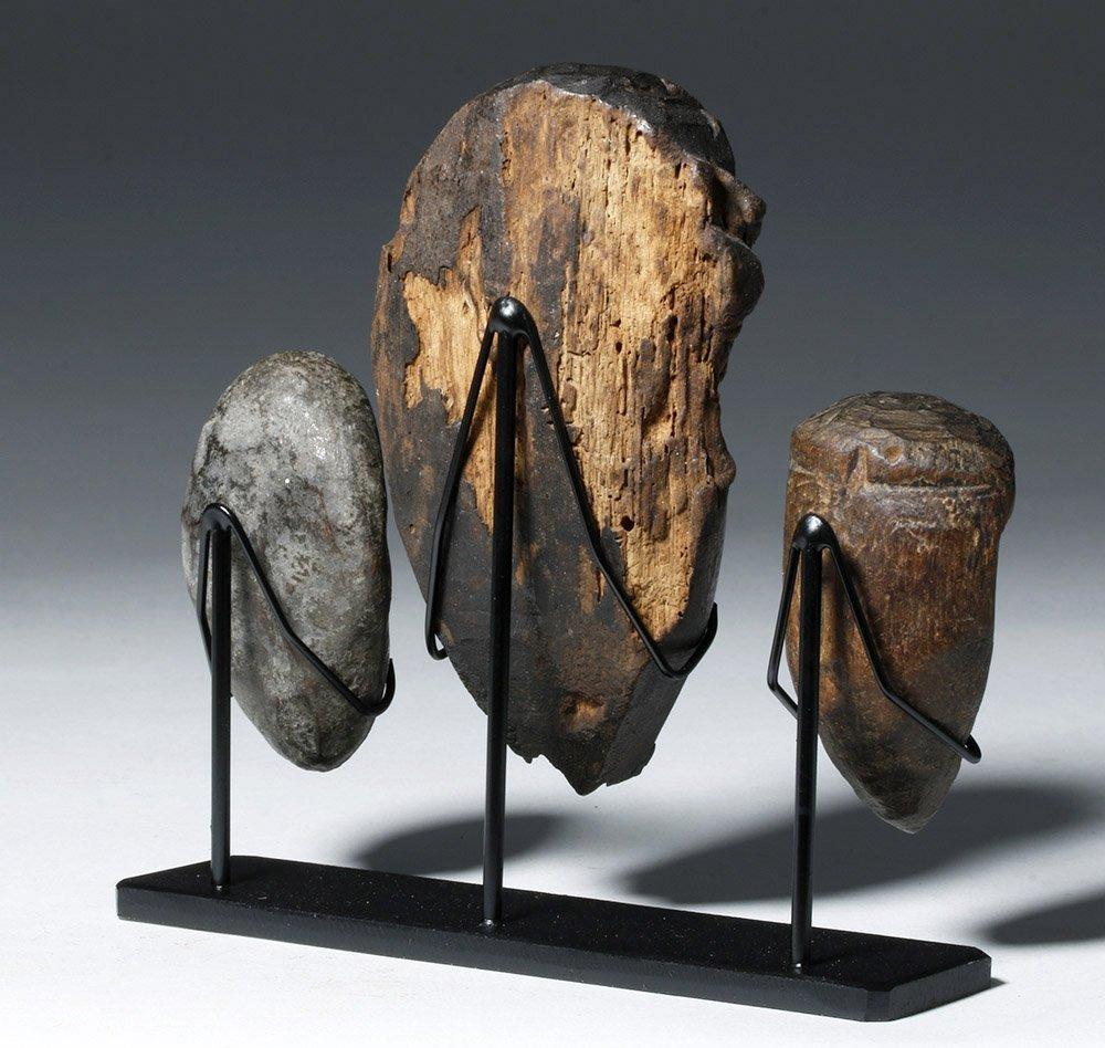 Three Authentic African Wooden Dan Passport Masks - 3