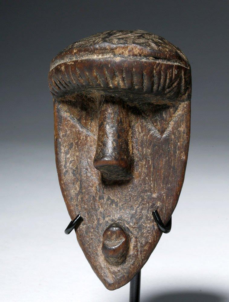 Three Authentic African Wooden Dan Passport Masks - 5