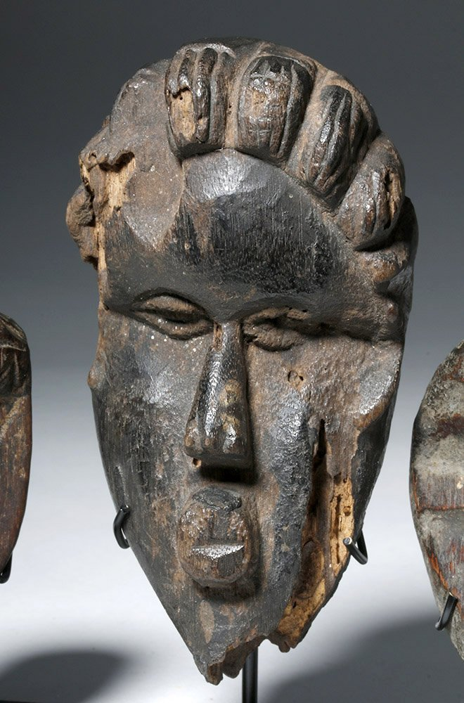 Three Authentic African Wooden Dan Passport Masks - 6