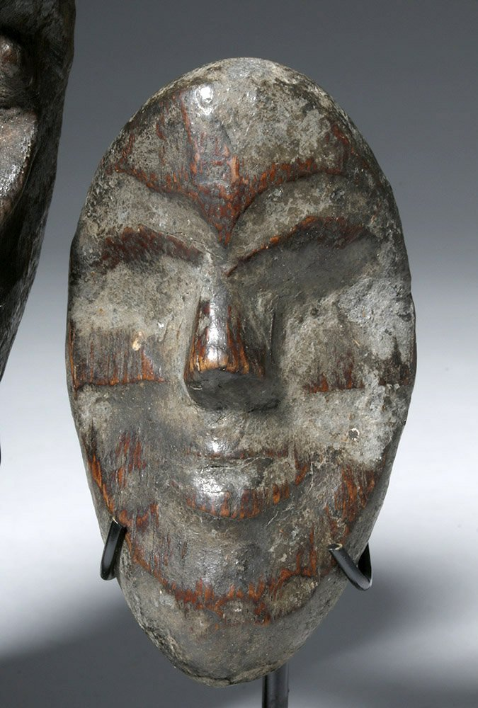 Three Authentic African Wooden Dan Passport Masks - 7