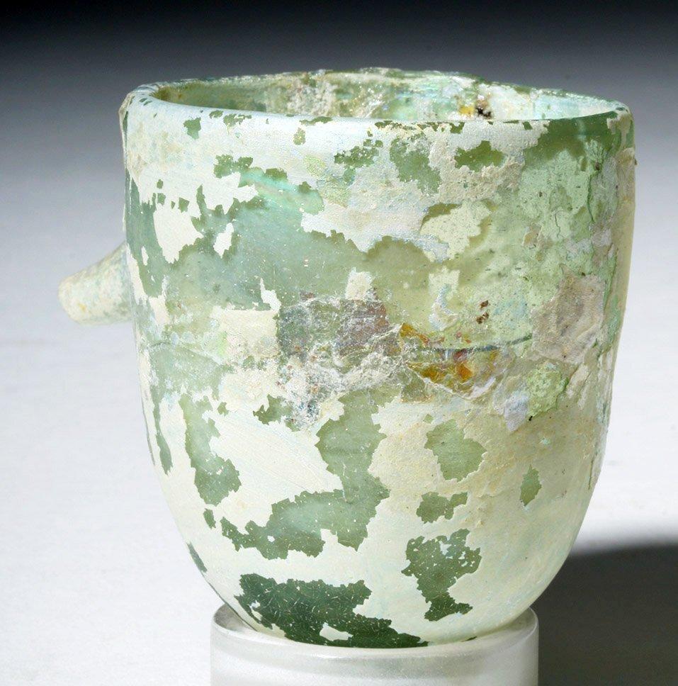 Roman Glass Baby Feeder Higly Iridescent! - 2
