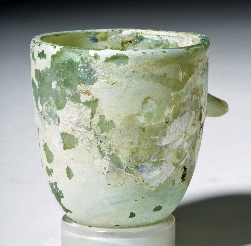 Roman Glass Baby Feeder Higly Iridescent! - 3