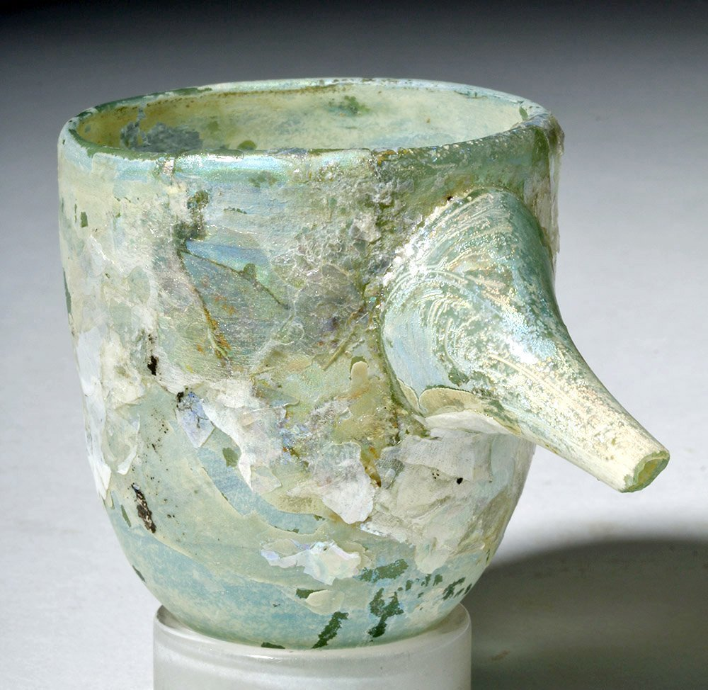 Roman Glass Baby Feeder Higly Iridescent! - 4