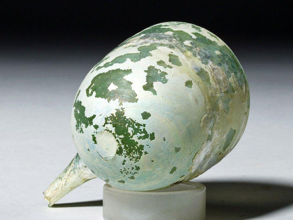 Roman Glass Baby Feeder Higly Iridescent! - 7
