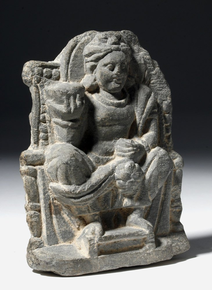 Gandharan Stone Carving of Seated Buddha - 4