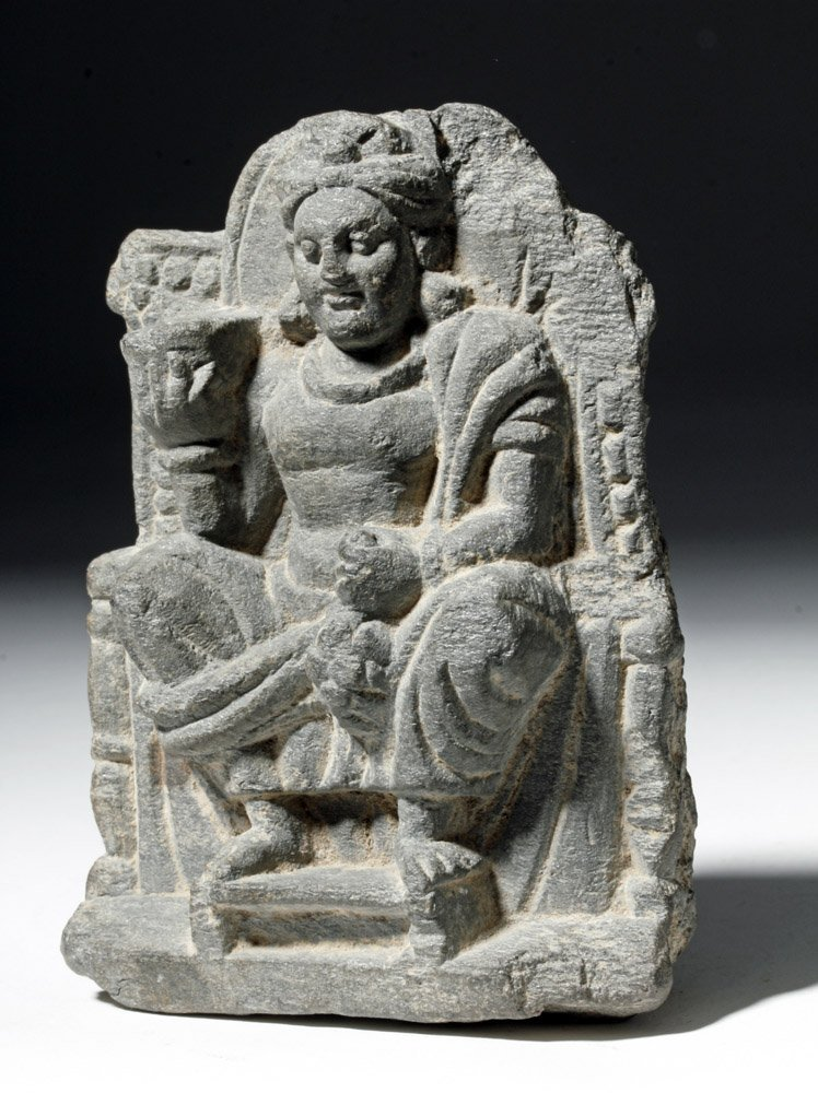 Gandharan Stone Carving of Seated Buddha - 5