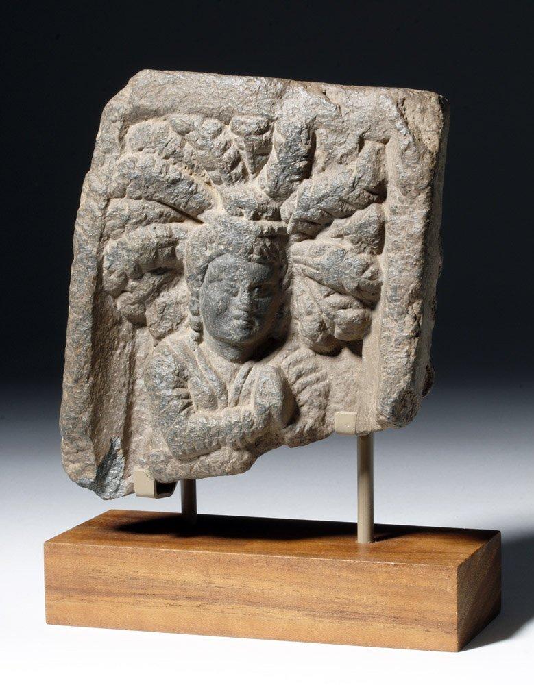Lovely Gandharan Stone Panel of Prince - 5