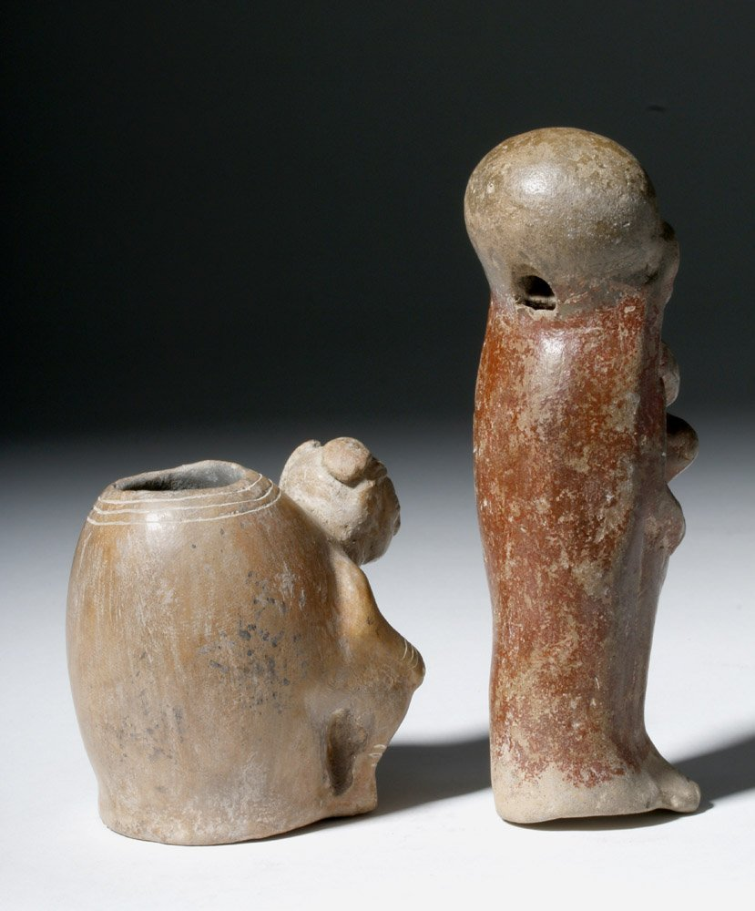 Lot of 2 Manabi / Bahina Pottery Figural Objects - 3