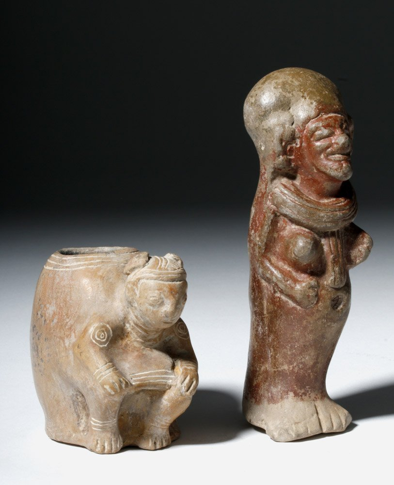 Lot of 2 Manabi / Bahina Pottery Figural Objects - 4