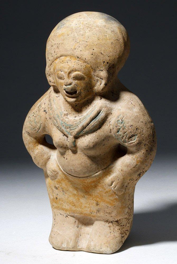 Jamacoaque Polychrome Pottery Standing Effigy