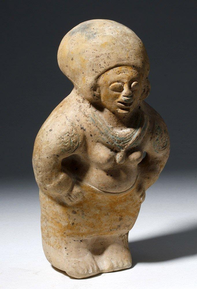 Jamacoaque Polychrome Pottery Standing Effigy - 4