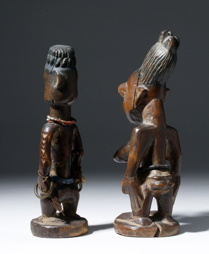 Fine Old African Wooden Ibeji Pair - 2