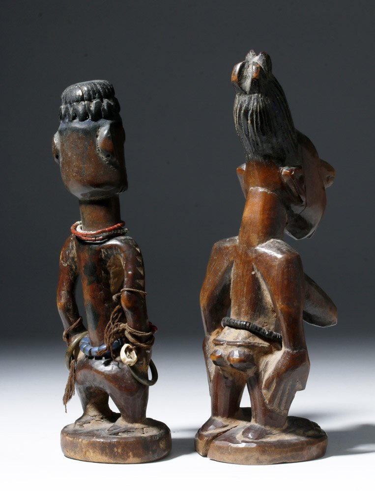 Fine Old African Wooden Ibeji Pair - 3