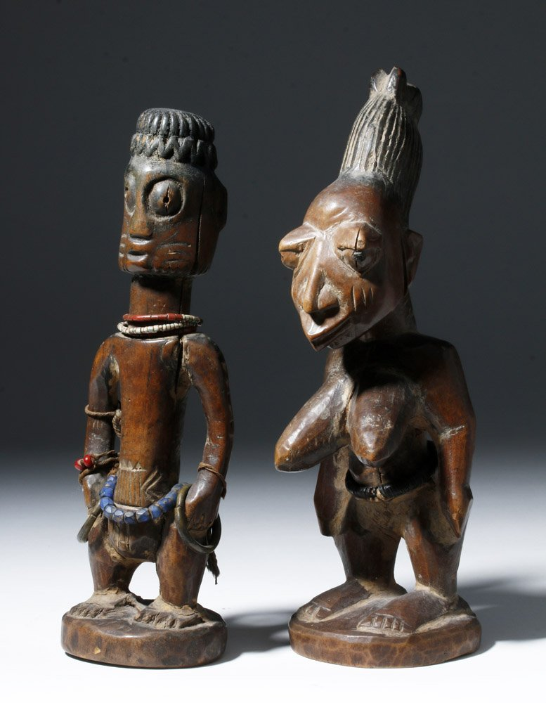 Fine Old African Wooden Ibeji Pair - 4