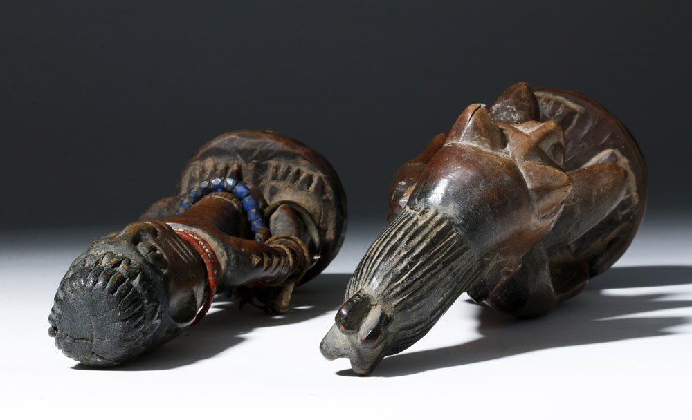 Fine Old African Wooden Ibeji Pair - 8