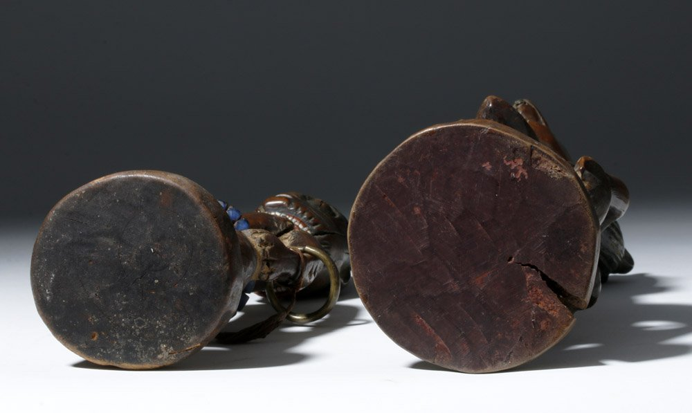 Fine Old African Wooden Ibeji Pair - 9