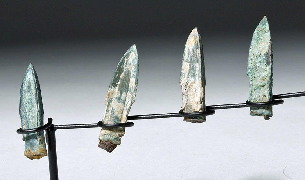 Nine Bronze Socketed Arrowheads - 2