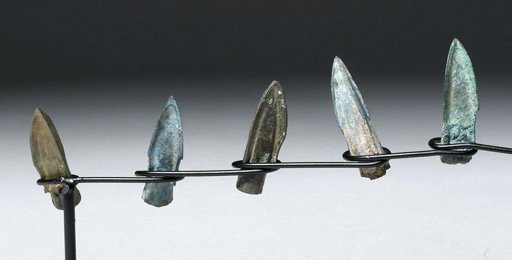 Nine Bronze Socketed Arrowheads - 5