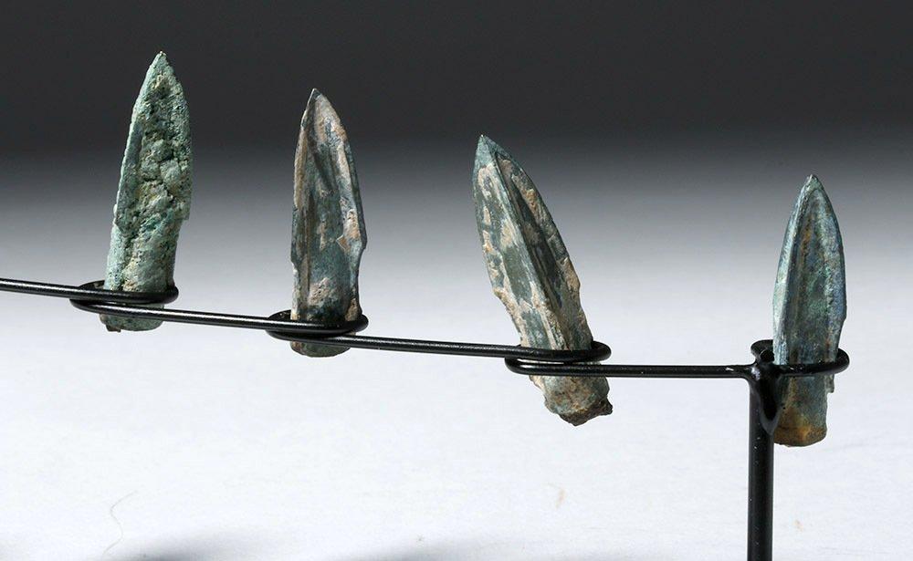 Nine Bronze Socketed Arrowheads - 6