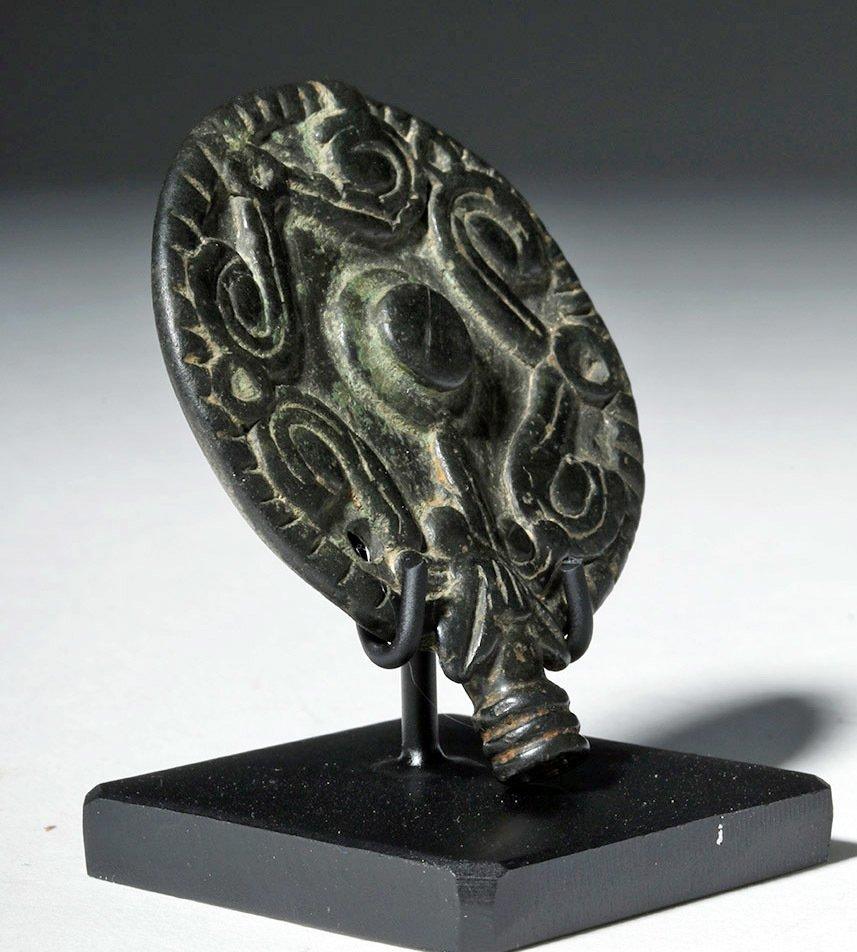 Luristan Bronze Disc Pin Head, ex-Christie's - 4