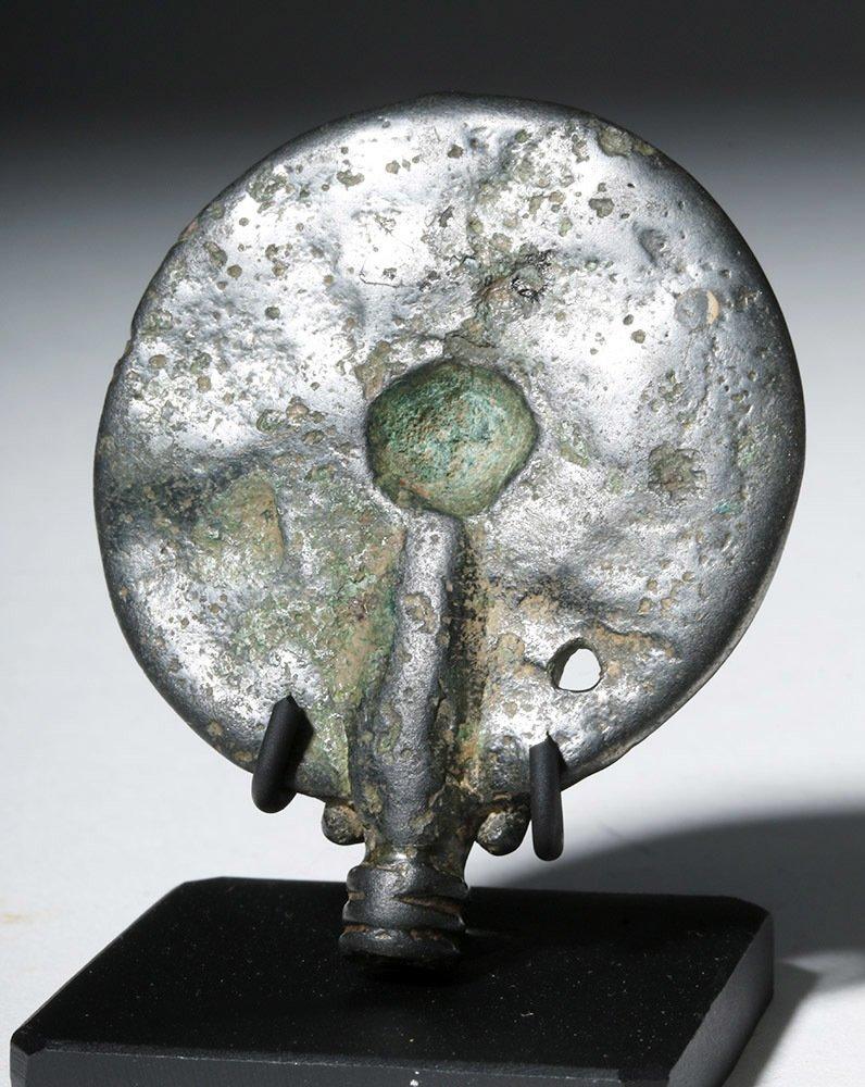 Luristan Bronze Disc Pin Head, ex-Christie's - 6
