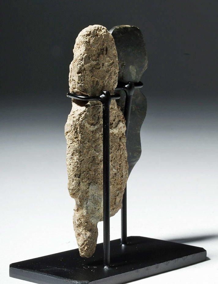 Pair of Mezcala Stone Figures, one Greenstone - 2