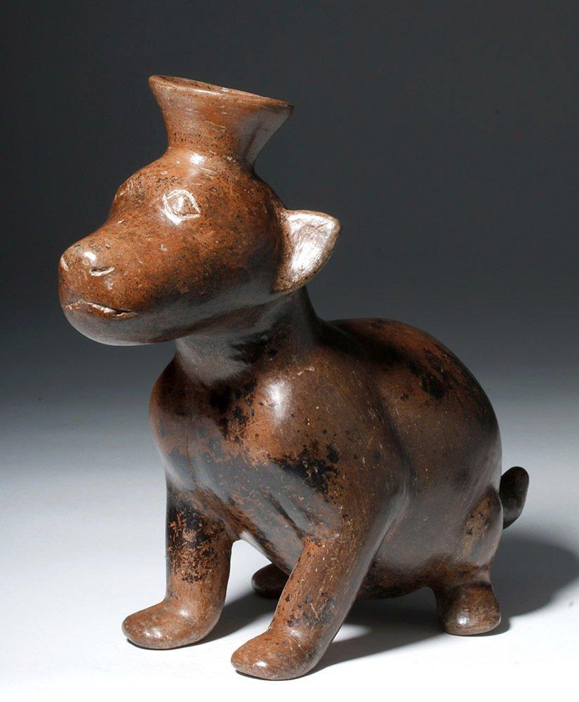 Adorable Colima Pottery Seated Dog