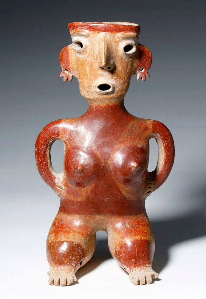Gorgeous Zacatecas Pottery Seated Female