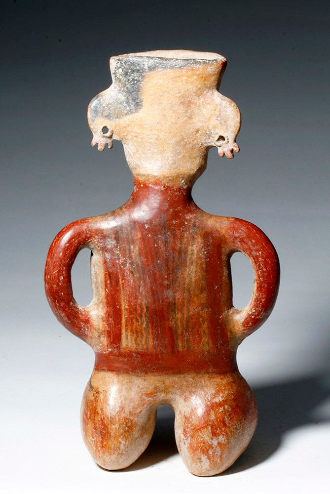 Gorgeous Zacatecas Pottery Seated Female - 3