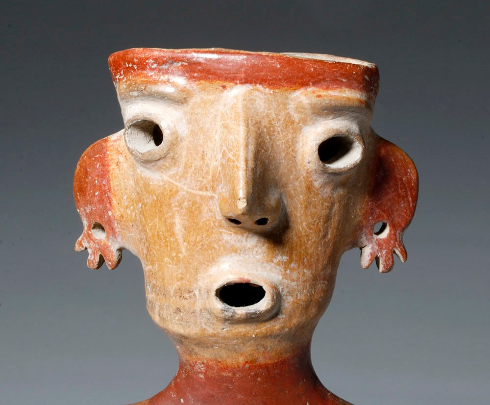 Gorgeous Zacatecas Pottery Seated Female - 5