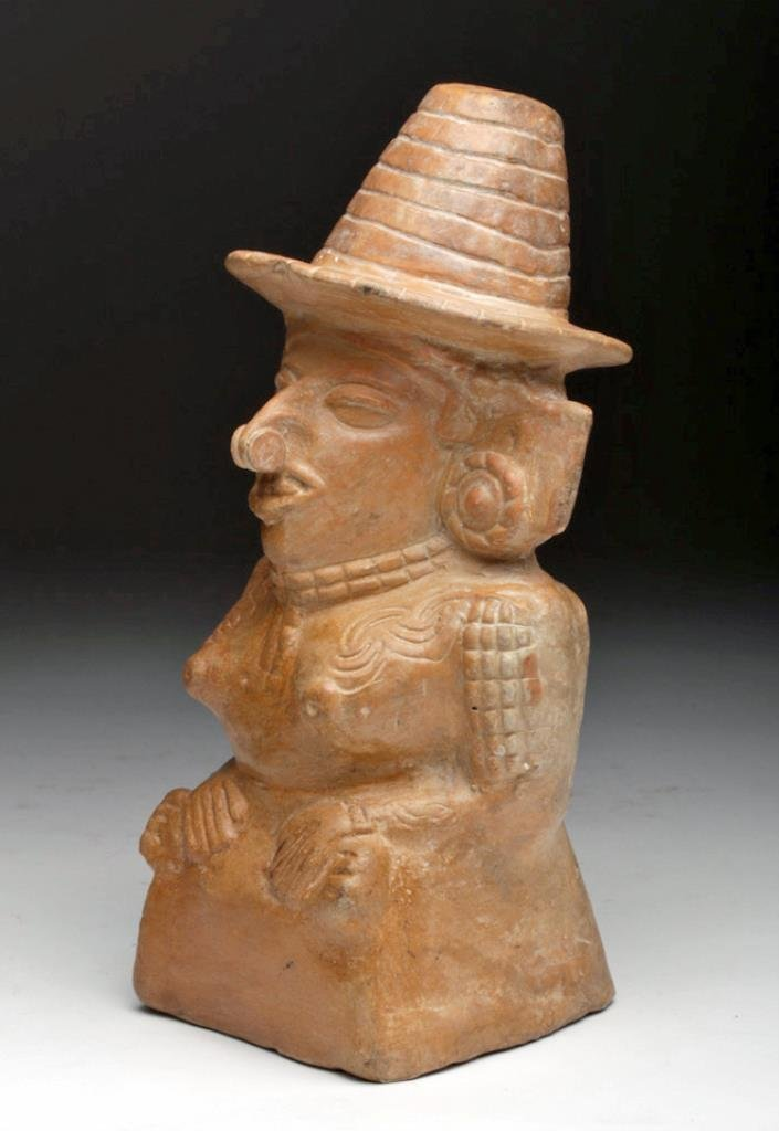 Mayan Toltec Seated Pottery Figure - Corn Goddess - 3