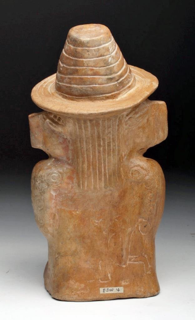Mayan Toltec Seated Pottery Figure - Corn Goddess - 4
