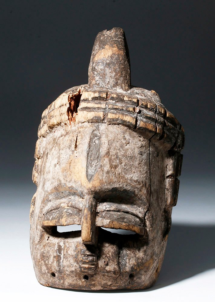 Bini Wood Mask (Worn in Nkporo Ifogu Masquerade)