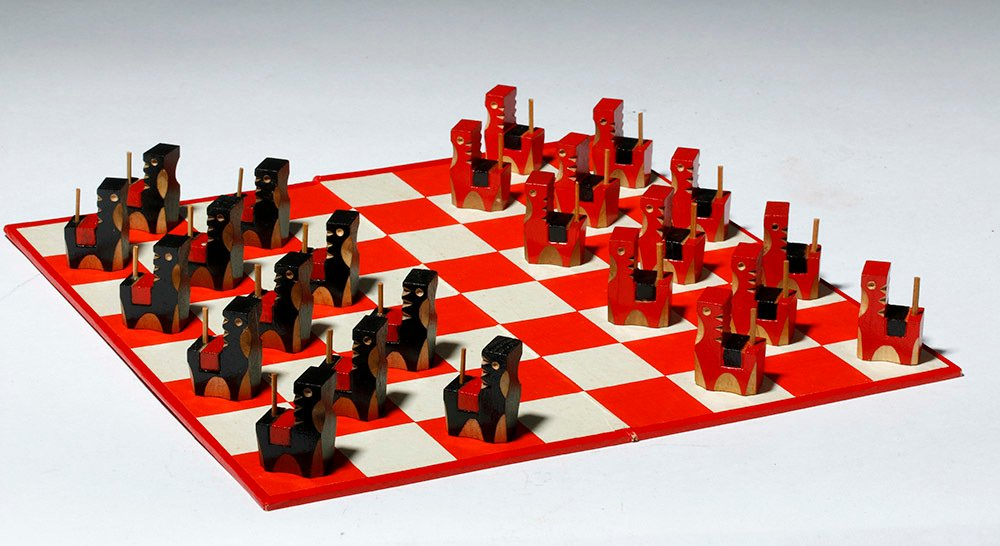Vintage Japanese Board Game - Checkers with Horse Theme