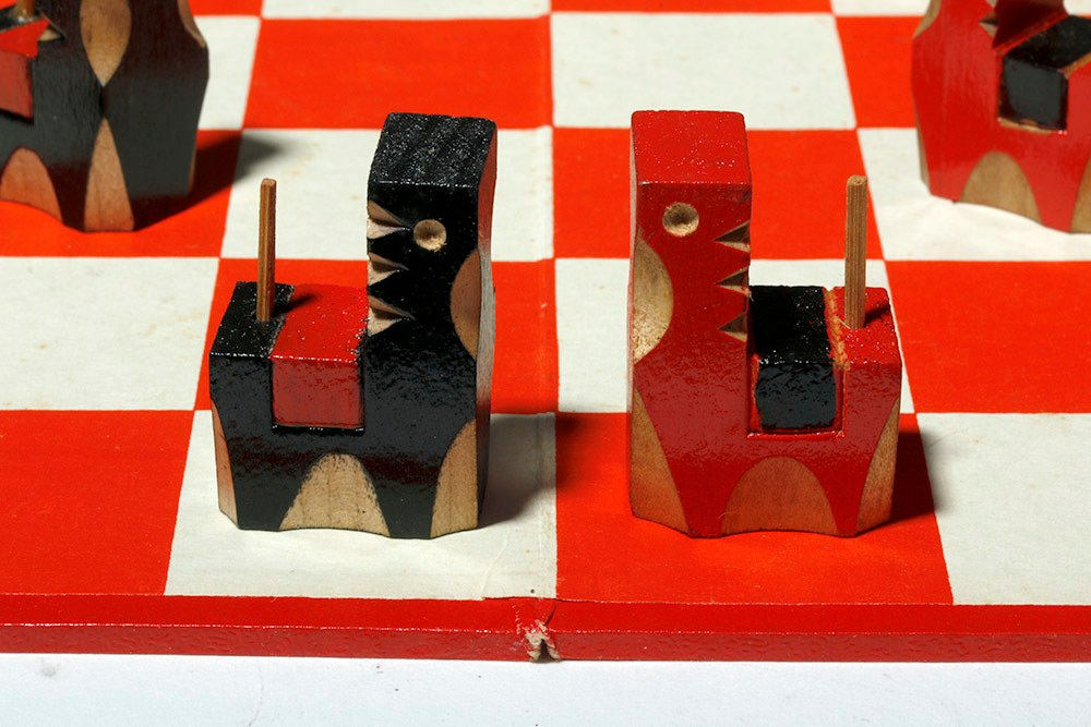 Vintage Japanese Board Game - Checkers with Horse Theme - 5