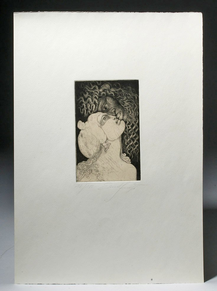 Signed / Dated Engraving, Vienna Modernist Ernst Fuchs