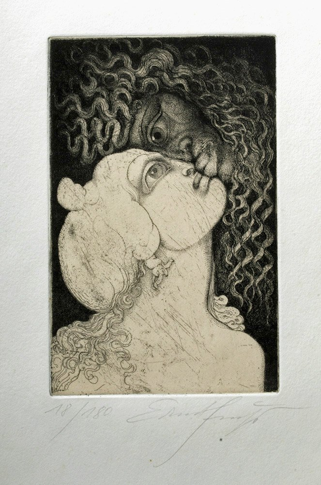 Signed / Dated Engraving, Vienna Modernist Ernst Fuchs - 2