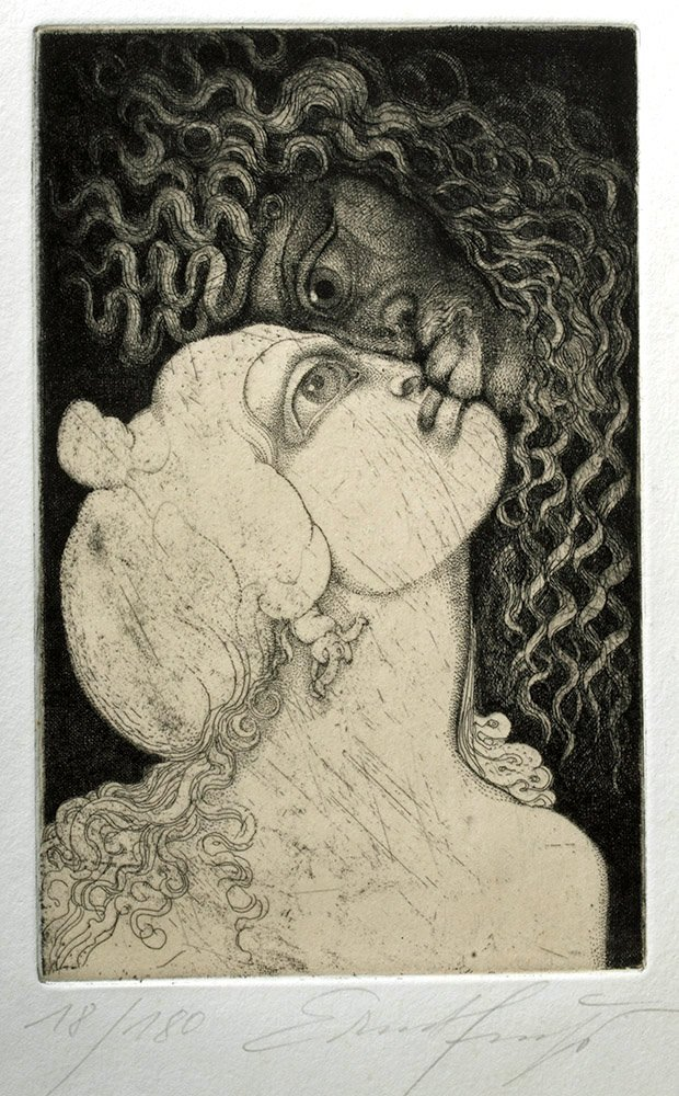 Signed / Dated Engraving, Vienna Modernist Ernst Fuchs - 4