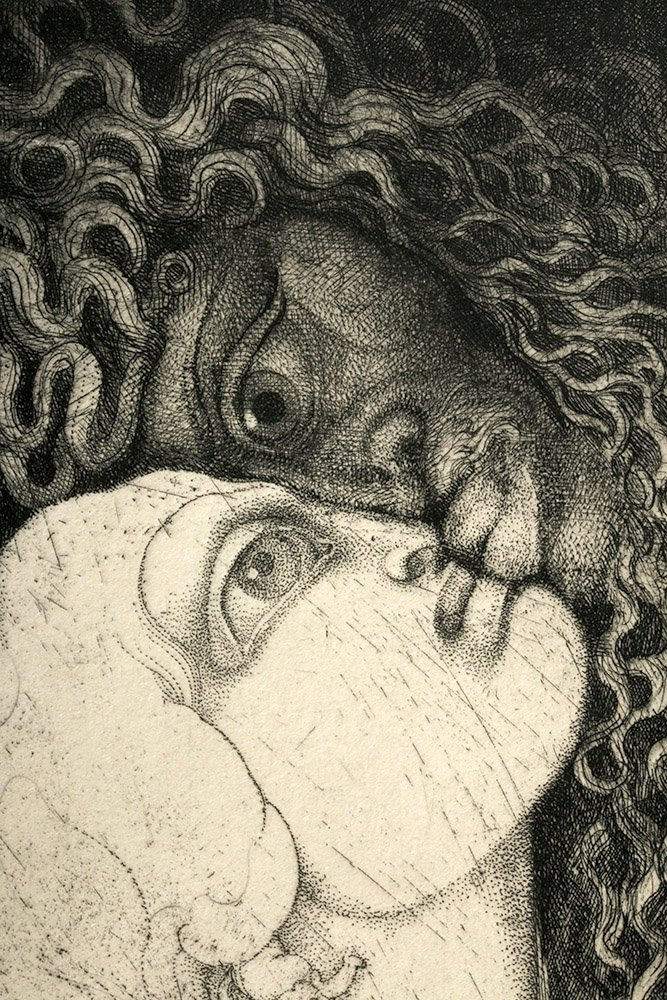 Signed / Dated Engraving, Vienna Modernist Ernst Fuchs - 5