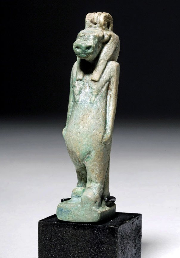 Large & Fine Egyptian Faience Amulet of Taweret